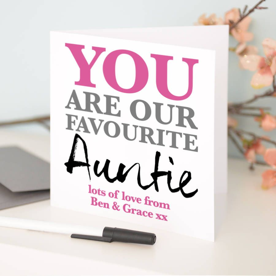 Personalised Favourite Auntie Birthday Card